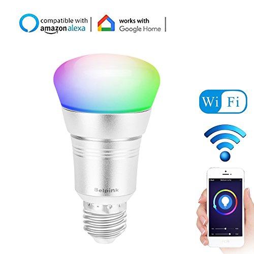 Bombillas Wifi Inteligente Led E27 7W RGB - Compatible con Google Home y Alexa