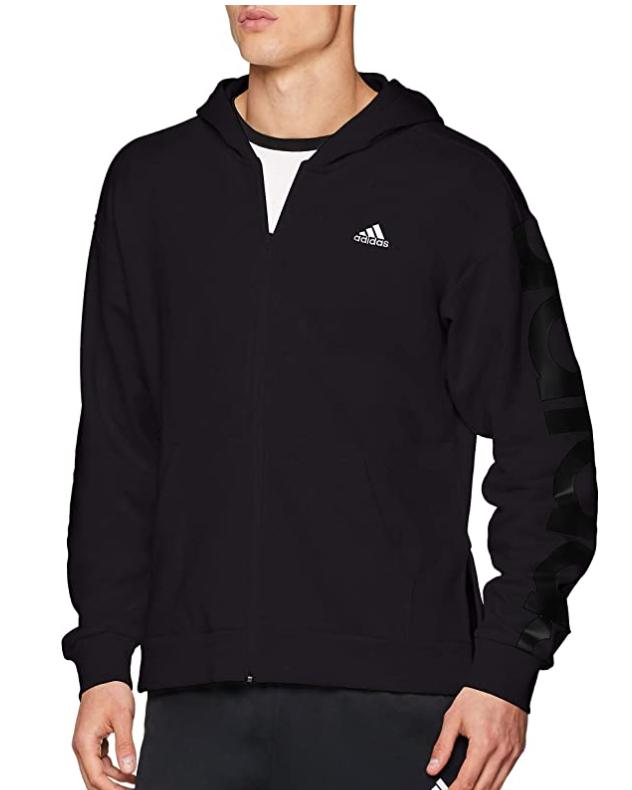 TALLA M - adidas Big Logo Full Zip Chaqueta para Hombre