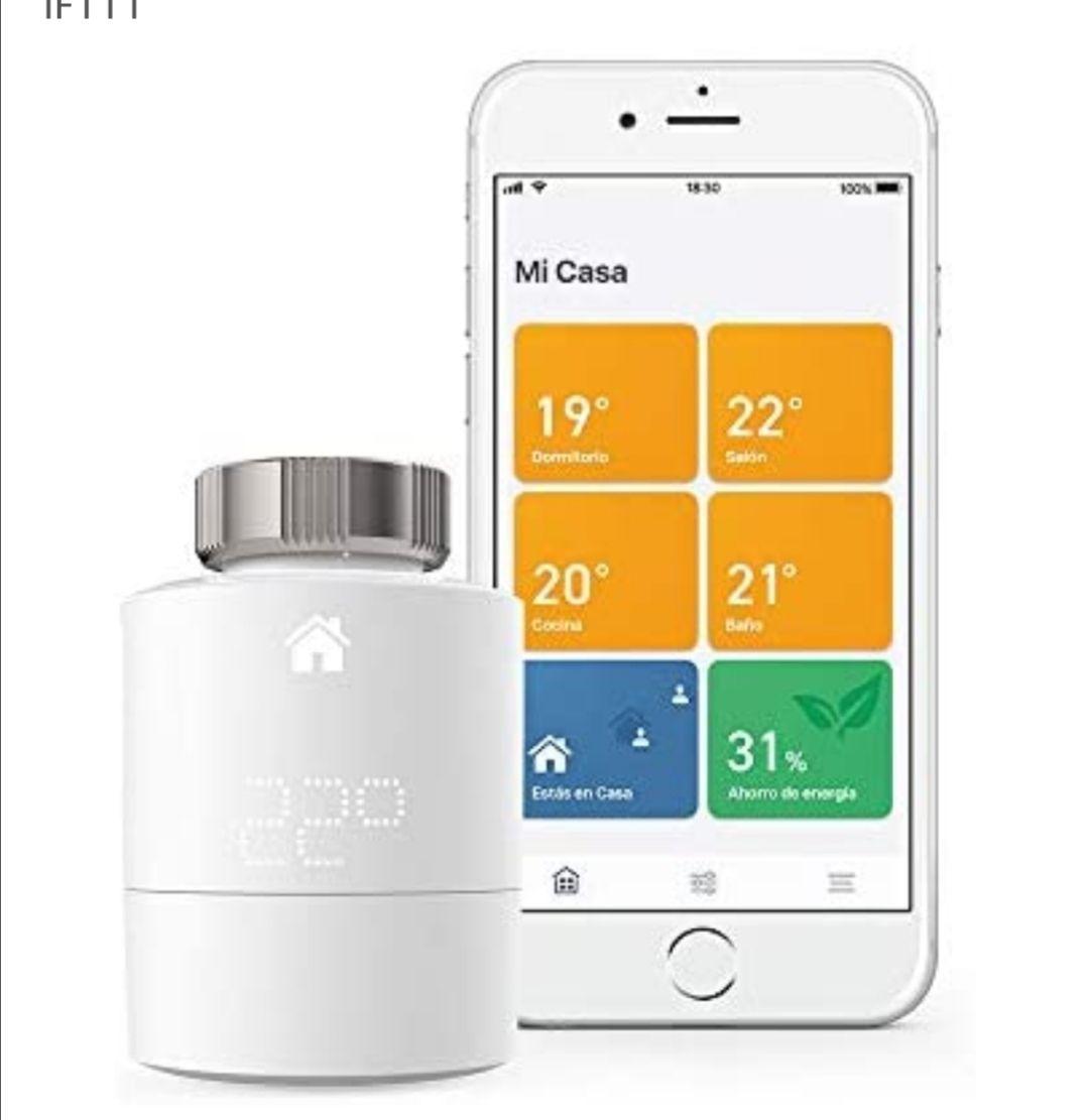tado° Cabezales Termostáticos Inteligentes Kit de Inicio V3+ Control inteligente de calefacción, trabaja con Amazon Alexa, Apple HomeKit