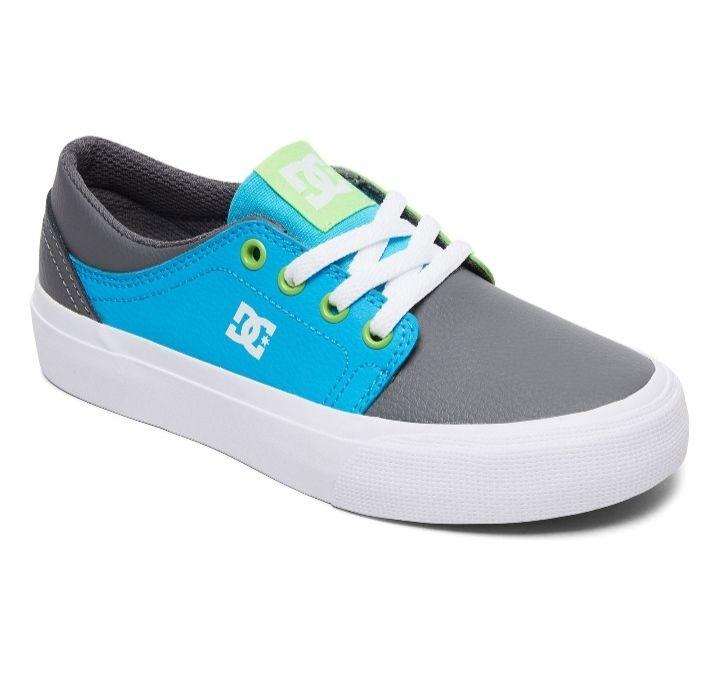 Sneakers Trase Se Cuero Vuelto Gris Y Azul Claro DC Shoes