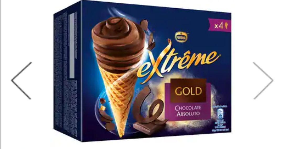 4 NESTLÉ Extreme Gold 110 ml sólo (0'49 ud)