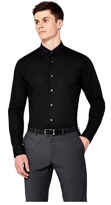 Marca Amazon - find. Camisa Formal Entallada Hombre