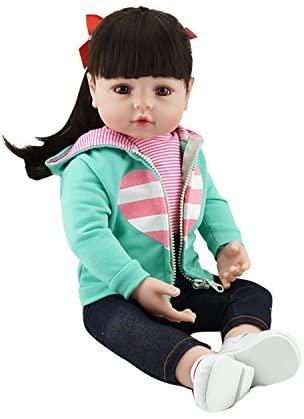 Reborn Baby Doll Niña 24 Pulgadas 61cm (bebé está hecho a mano) Silicona