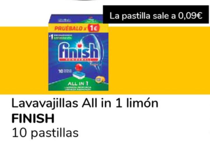 SUPECO Finish allí in 1 limon 10 pastillas a 0.09€ la unidad