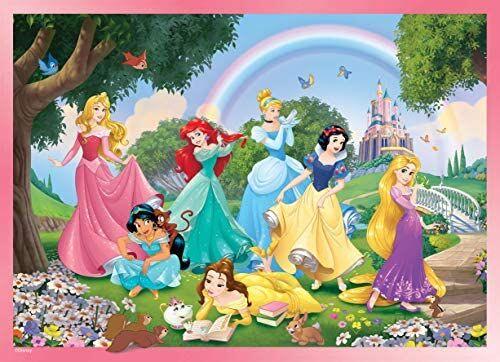 Puzzle princesas Disney doble cara para pintar, 24 piezas