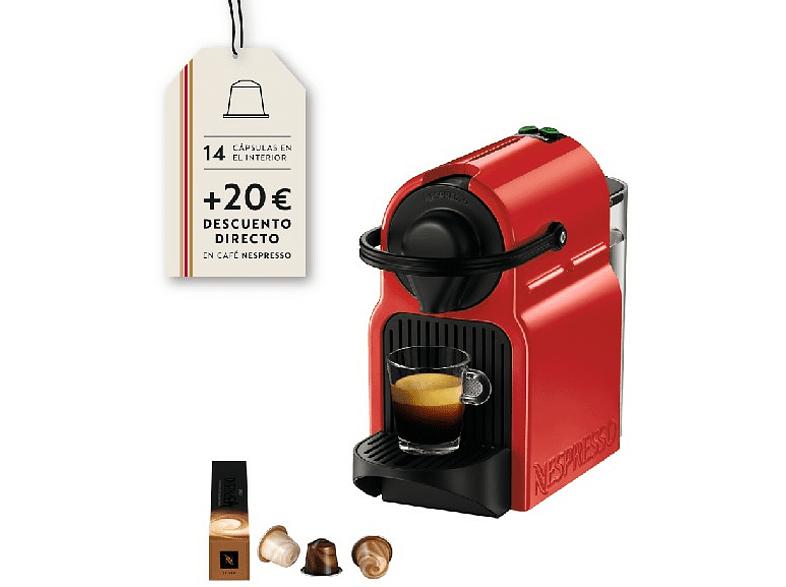 Más 20€ en capsulas. Cafetera de cápsulas - Nespresso Krups INISSIA XN1005P4, Presión de 19 bares, Potencia 1260W