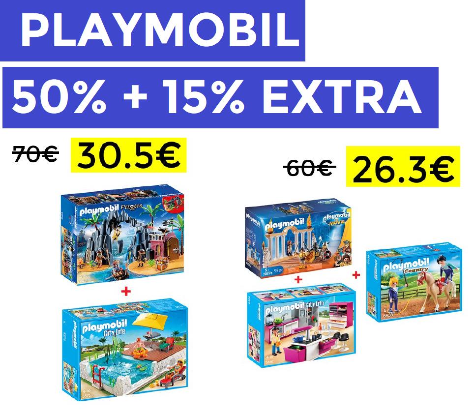 Hasta 50% +15% EXTRA en pedidos +30€ Playmobil