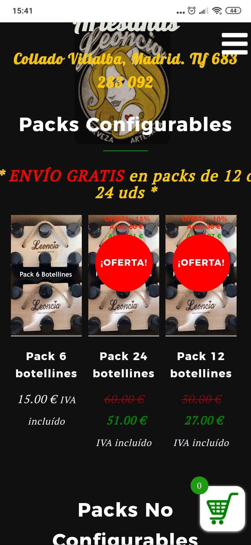 Pack de cervezas Leoncia configurable a tu gusto de 12/24 a un precio de 27/51€ gastos de envío gratis