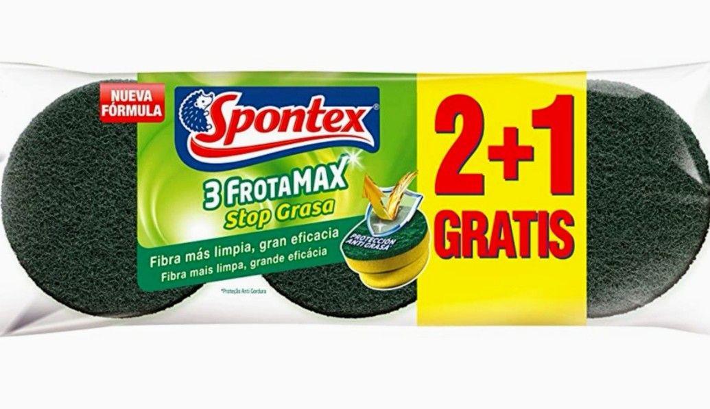 Spontex Frotamax Estropajos Salvauñas, Sistema Stop Grasa, 3 Unidades (precio al tramitar)