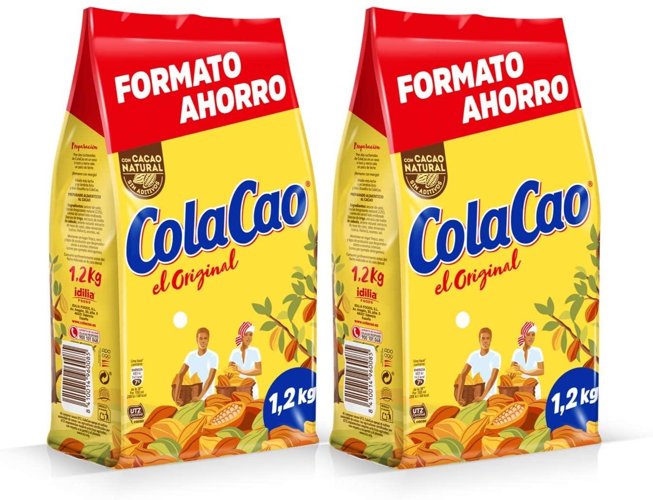 Cola Cao Original: Envase de 1200 gramos [Pack de 2] - 2,4 kg