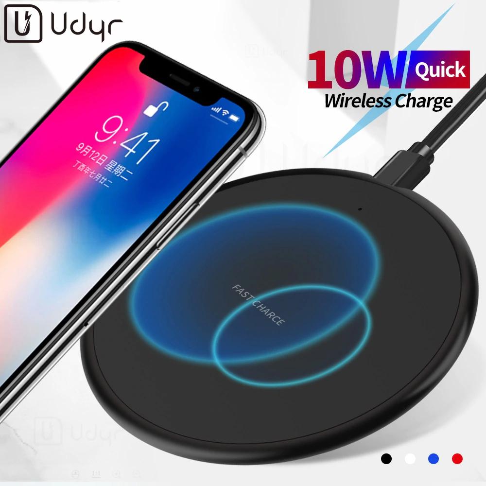 Cargador Udyr con tecnología de carga inalámbrica Qi rápida de 10W compatible con iPhone X/XS/ Samsung, Xiaomi MI