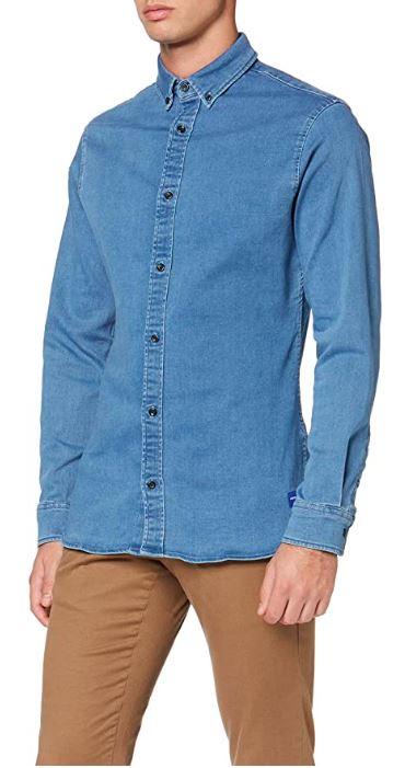 Jack & Jones Jjigeorge Shirt Stretch LS Camisa Vaquera para Hombre. Desde 10.07€.