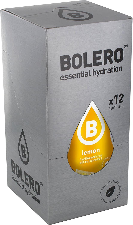 Pack 4 (3,5€ caja) Bolero Bebida Instantánea sin Azúcar, Sabor Limón - Paquete de 48 x 9 gr.