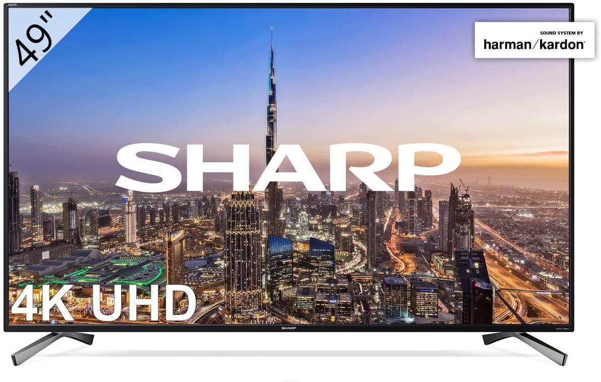 "Sharp LC-49UI8652E - UHD Smart TV Slim de 49"" (resolución 3840 x 2160, HDR+, 3X HDMI, 2X USB, 1x USB 3.0)"