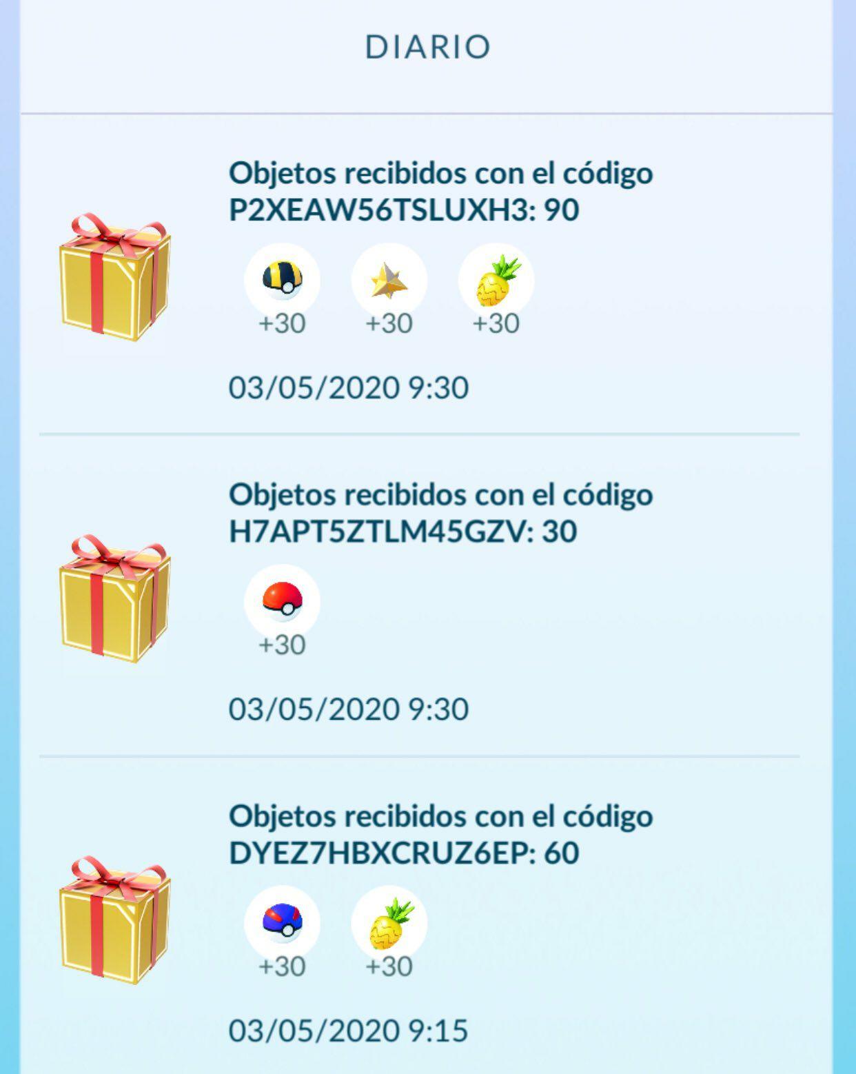 Nuevos códigos promocionales en Pokémon Go