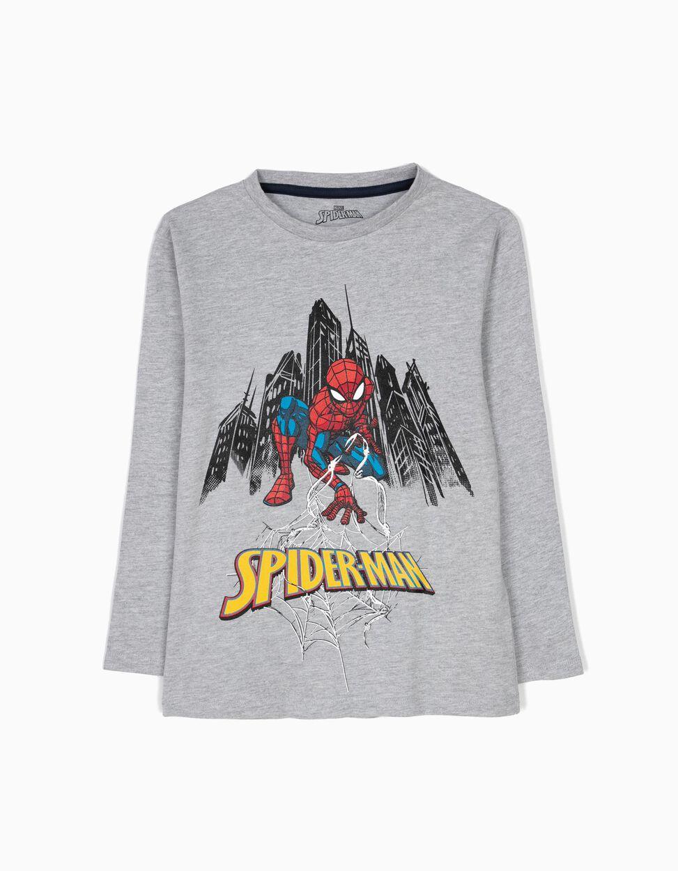 Producto oficial, camiseta manga larga Spiderman