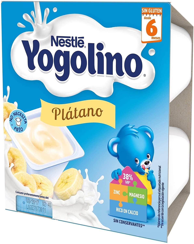 24 tarrinas de Nestlé Yogolino, Postre lácteo con Plátano