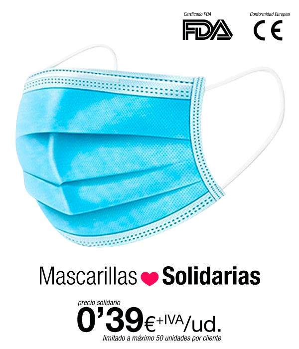 Pack 50 Mascarilla higniénica desechable