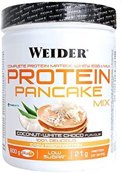 Weider Polvo para Tortitas de Proteínas de Chocolate Blanco y Coco 600 gramos
