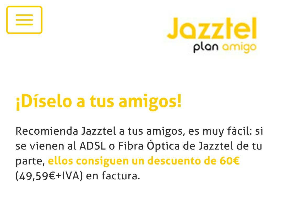 Plan Amigo Jazztel 60€ Gratis!