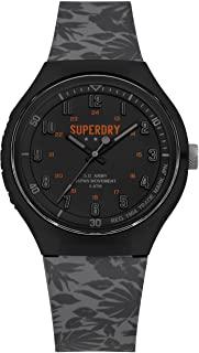 Superdry Reloj Analógico para Hombre de Cuarzo con Correa en Silicona SYG225E