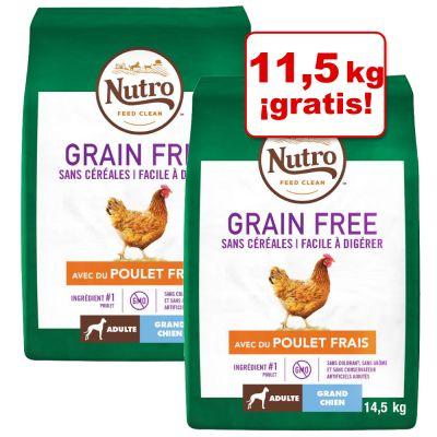 Nutro Grain free pollo y cordero 2,69€/kg