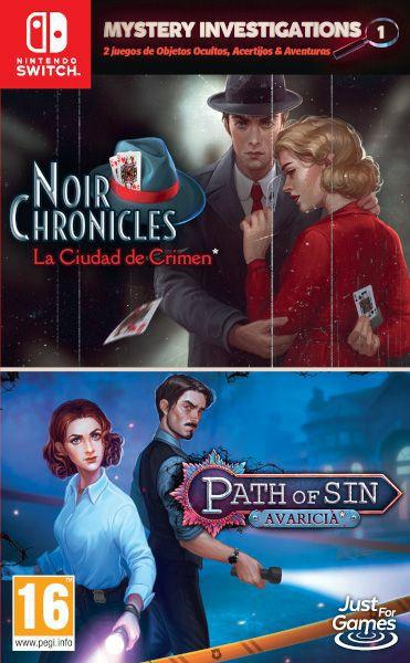 Mystery Investigation 1: Noir Chronicles: La Ciudad De Crimen + Path Of Sin: Avaricia Switch