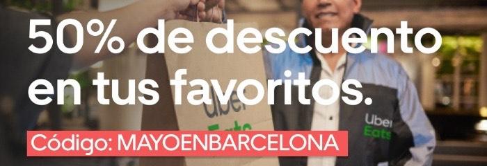 4€ de descuento en uber eats (barcelona)