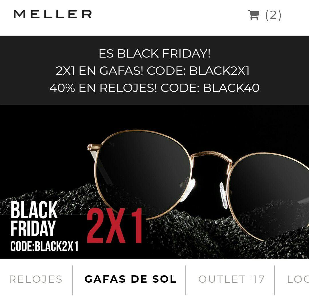 2x1 gafas de sol; 40% relojes en Meller