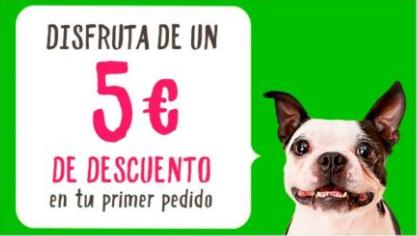 -5€ TIENDANIMAL ped. mínimo 49. 1er pedido vía APP