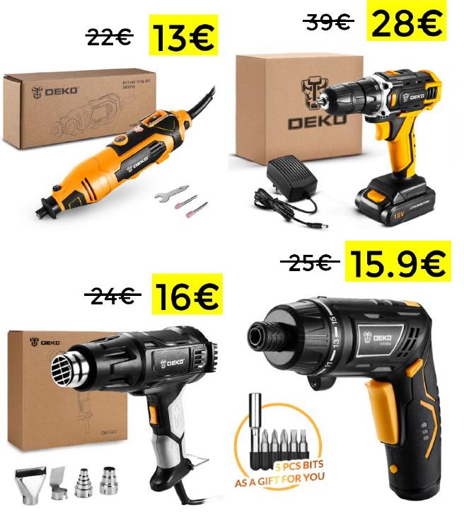 Selección de herramientas Deko desde España (desde España)