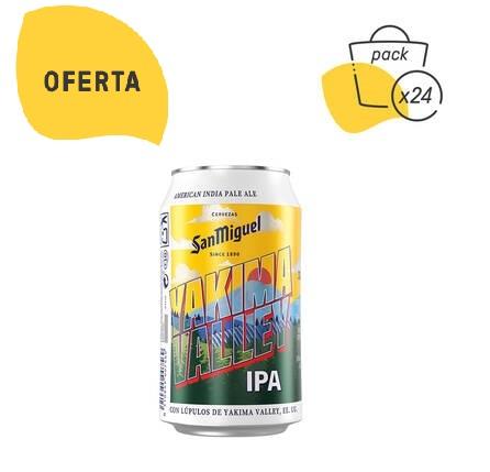 Preciazo para cerveza YAKIMA VALLEY IPA de San Miguel 6,10% vol.