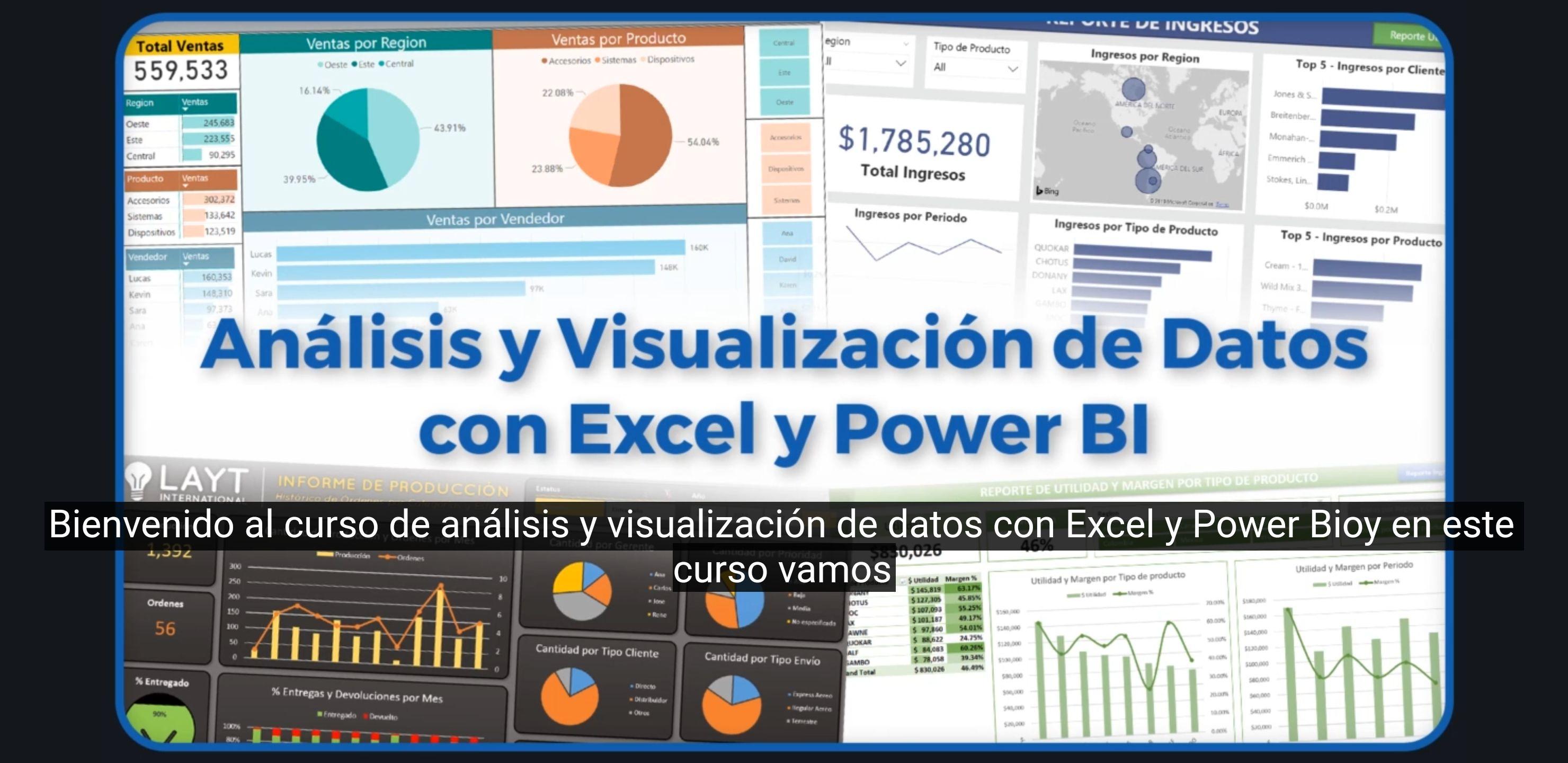 Curso de análisis y visualización de datos con Excel y Power Bi