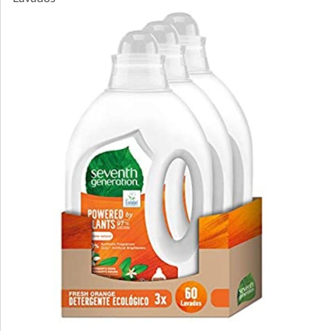 Seventh Generation Fresh Orange & Blossom - Detergente para Ropa, 0% colorantes, fragancias sintéticas, 3 Paquetes (compra recurrente)