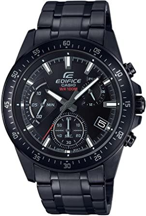 Casio EDIFICE EFV-540DC-1AVUEF Reloj en caja sólida, 10 BAR, Negro, para Hombre, con Correa de Acero inoxidable,