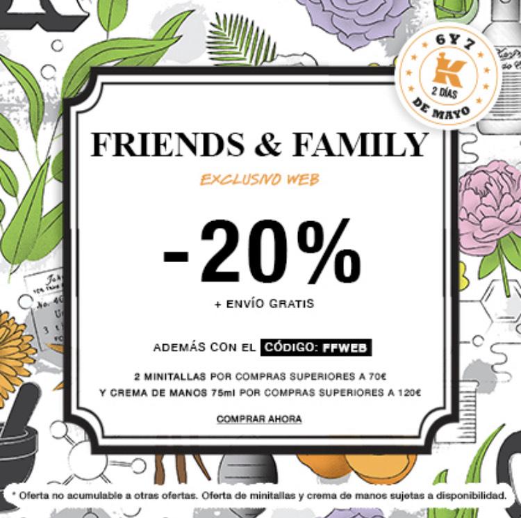 Kiehl's Friends & Family -20% + Envío gratis