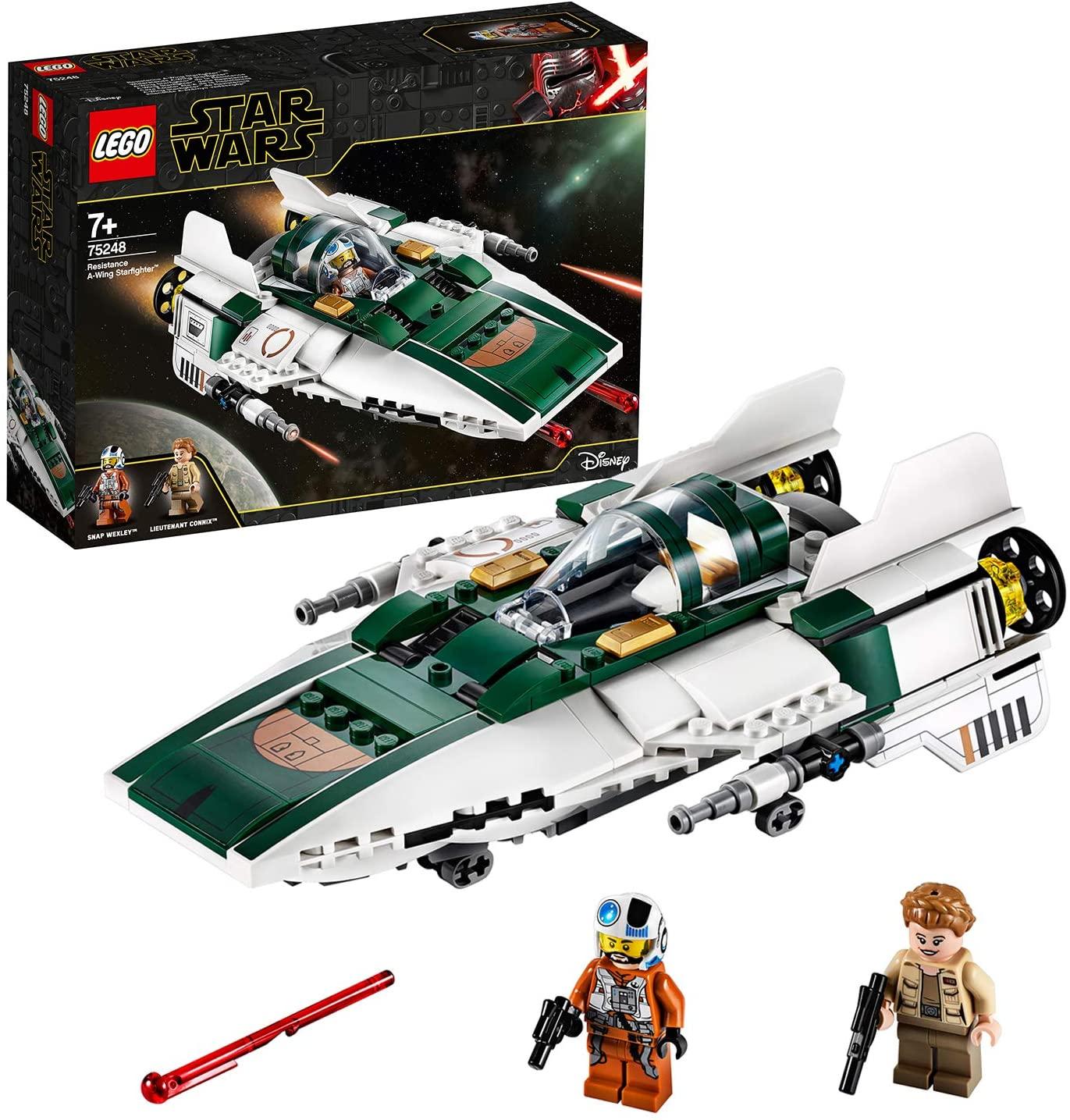 LEGO Star Wars TM - Caza Estelar Ala-A de la Resistencia, Nave Espacial de la Guerra de las Galaxias Episodio IX: El Ascenso de Skywalker