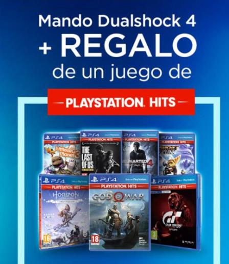 Juego PS Hit de regalo con la compra de tu Dualshock 4