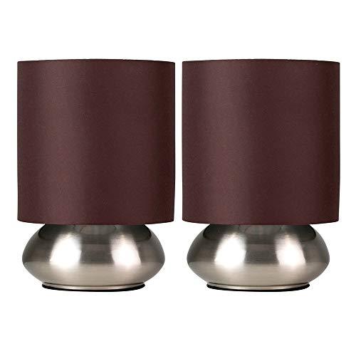 Set de 2 lámparas de mesita táctiles con 25% de descuento (precio al tramitar)
