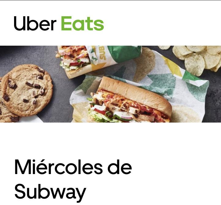 Uber Eats 5€ de descuento en Subway (Pedido mínimo 1€)