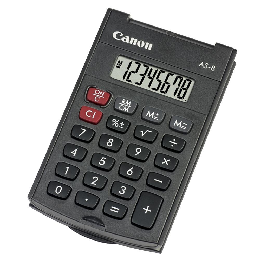 Calculadora bolsillo sencilla Canon AS-8 Negra
