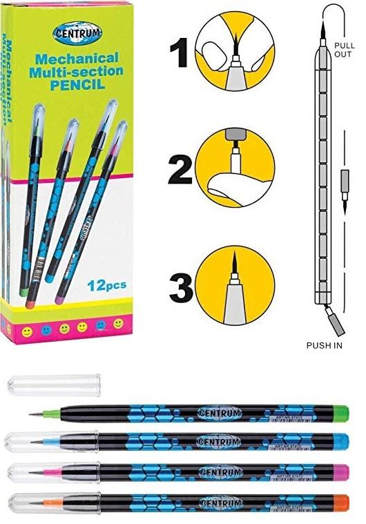 Estuche de lápices (12 unidades) minas intercambiables Temporalmente sin stock