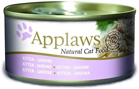 Applaws Gato Lata comida Gatos Sardine, 24 Unidades (24 x 70 g)