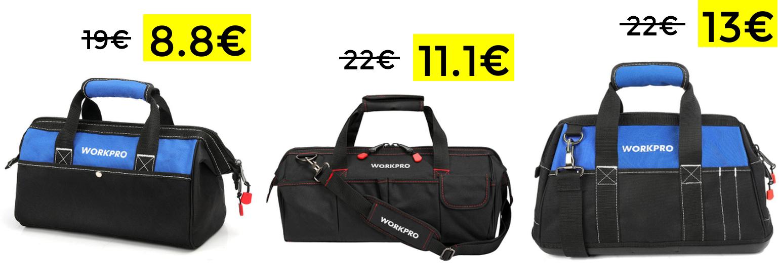 Minimazos en bolsas de herramientas Workpro (desde España)