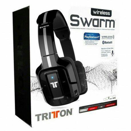 Auricular Tritton Swarm Negro Metalizado Bluetooth  Auricular Tritton Swarm Negro Metalizado Bluetooth  MAD CATZ