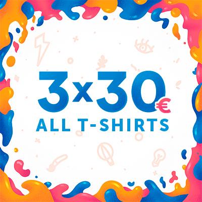 Camiseta Gratis con la promo 2x25 o 3x30