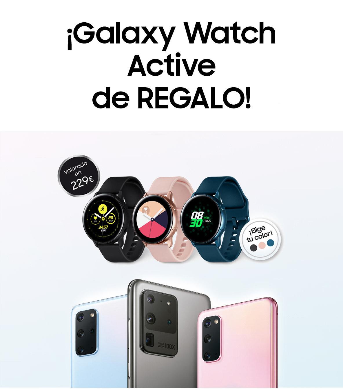 Galaxy Watch Active y dos meses de HBO gratis al comprar un Samsung Galaxy S20 (o superior)