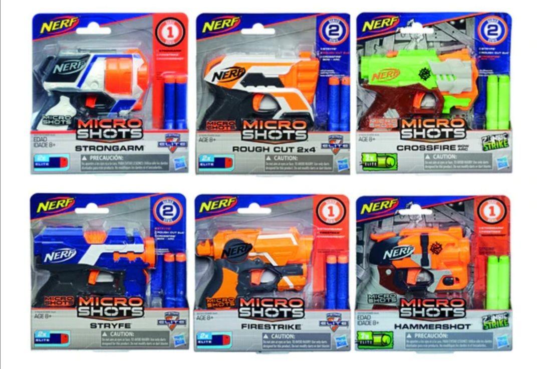 NERF Lanzador Microshots Nerf 3x2