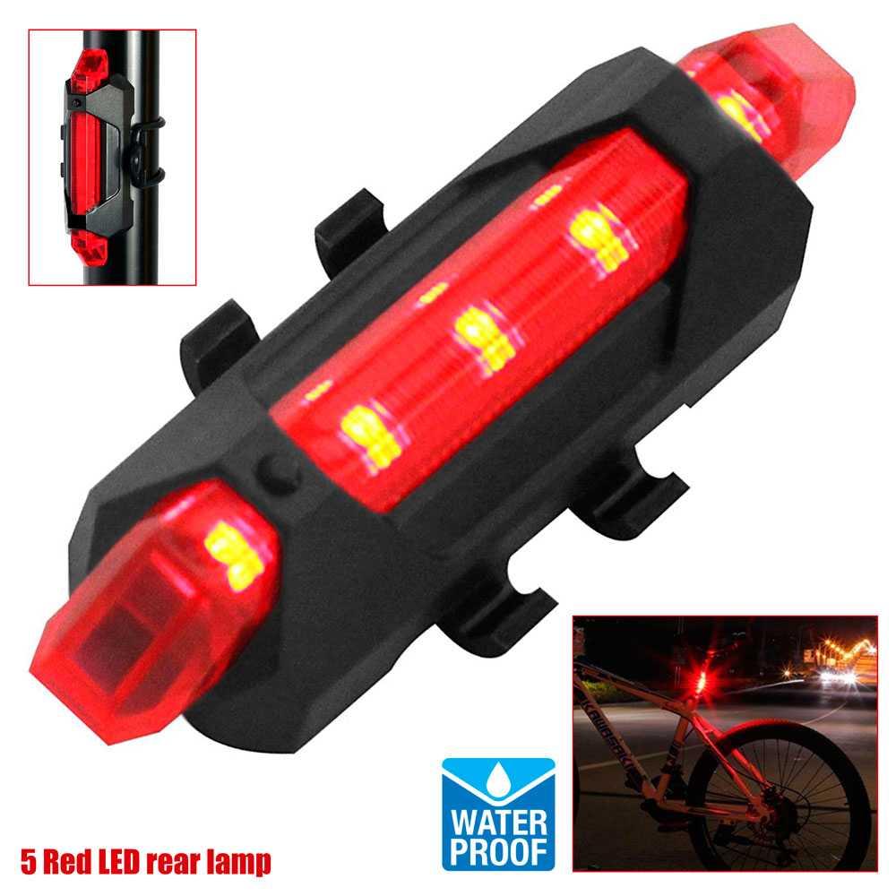 Luz trasera bicicleta led rojo solo 2,90 (Desde España)