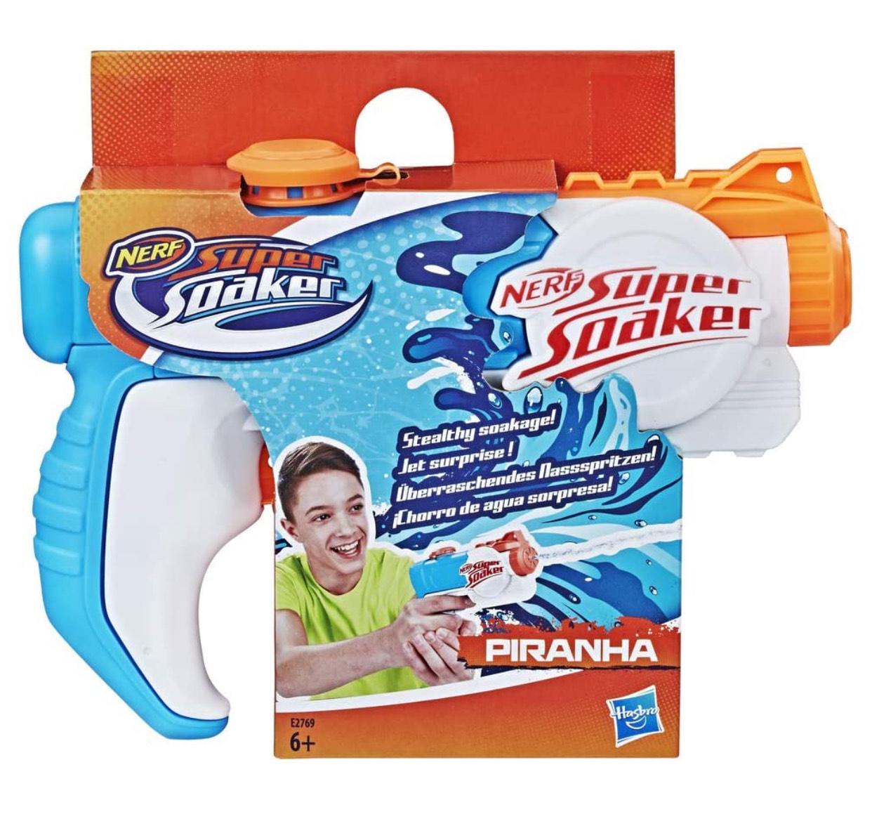 Pistola de agua Supersoaker Piranha de Hasbro (Precio al tramitar)
